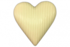 chocolade hart massief wit 190g